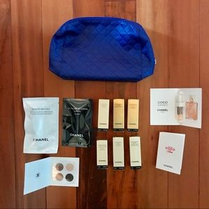 CHANEL Skincare and Makeup Sample with Pouch
